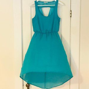 Charlotte Russe Teal High-Low Dress